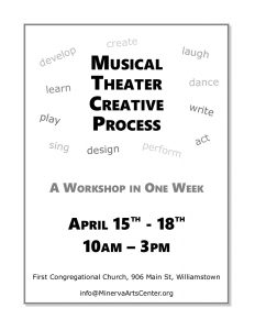 Musical Theater Creative Process